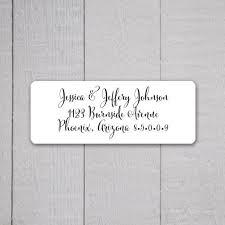 Wedding Address Return Labels Stunningslovakia