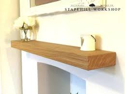 oak floating shelves solid shelf mantle beam fireplace mantel wood free fixings wall uk
