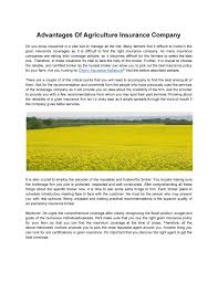Aims serves as the bond for insurance brokers who have farms, ranches, wineries, vineyards and commercial growers of agricultural products. My Publications Advantages Of Agriculture Insurance Company Page 1 Created With Publitas Com