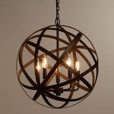 fantastic metal orb chandelier for industrial chandelier lighting