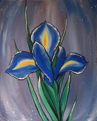 this isn t the first time i ve painted an iris i suppose like van gogh i have a bit of a fascination with them i ve always felt that the blue iris has a