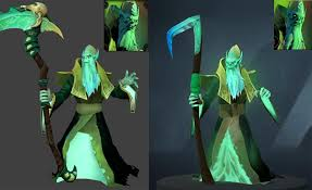 necrophos sneakily got a face remodel and skirt update dota2