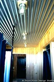 corrugated metal for interior walls ceilings chic tin kitchens bathrooms design ceiling
