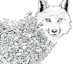 Wolf Coloring Pages For Adults For Download Free Jokingartcom