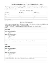 Employee Emergency Contact Information Template Employee Emergency Contact Form Template Awesome Information