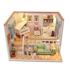minature doll house furniture. Diy Miniature Wooden Doll House Furniture Kits Toys Handmade Craft Model Kit Dollhouse Gift For Children M026 Dolls Family Of Minature