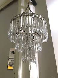 antique cut glass icicle waterfall crystal chandelier