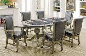 Game Table And Chairs Set Melina Gray Game Table Set Furniture Of America Furniture Cart