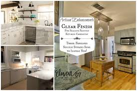 artisan enhancements clear finish for sealing kitchen cabinetry