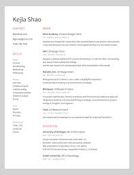 Redume 10 Amazing Designer Resumes That Passed Googles Bar