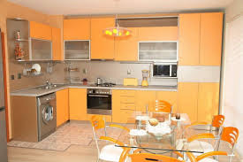 Interior Kitchen Glamorous Yellow Kitchen Interior Idea With Small Breakfast Nook