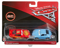com mattel cars 3 lightning mcqueen and sally cast vehicles 2 pack toys