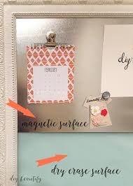 How To Make A Magnetic Memo Board New Dry Erase Magnetic Memo Board From An Old Picture DIY Beautify