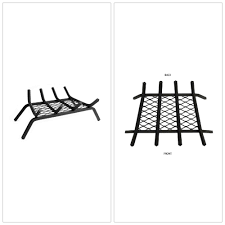 details about steel bar fireplace grate 18 heavy duty ember retainer fire burning black