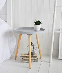 portland grey small scandi tripod table