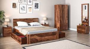 bedroom furniture storage. Contemporary Storage Boston Complete Storage Bedroom Set Teak Finish King Bed Size By Urban  Ladder On Furniture L
