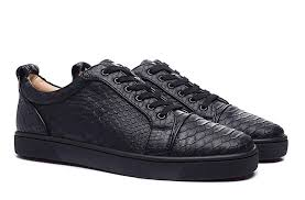 all black leather red bottom sneakers low cut python snakeskin sneakers men women casual shoe brand new whole las shoes loafers for men from