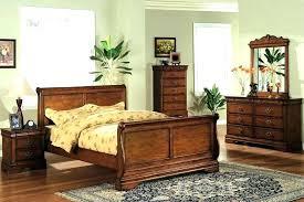 Solid Wood Sleigh Beds Sled Bed Frame Interesting Sled Bed Frame ...