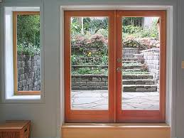 french doors to patio contemporary entry