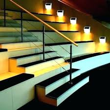 outdoor stairs lighting. Exterior Step Lights Stair Lighting Solar Outdoor  . Stairway Stairs