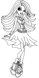 Small Picture Monster High Spectra Coloring Pages GetColoringPagescom