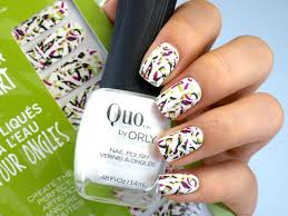 Quo by Orly Water Transfer Nail Art in