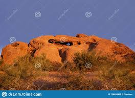 Papago Park Known As The Hole In The Rock, Phoenix,AZ Stock Image - Image  of maricopa, desert: 126494965