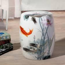 ceramic garden stools. Fish Pattern Jingdezhen Porcelain Garden Stool Ceramic For Dressing Table Drum Chinese Stools