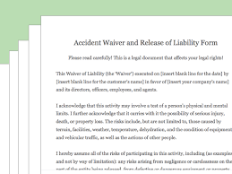 liability waiver form template free how to draft a waiver of liability with pictures wikihow