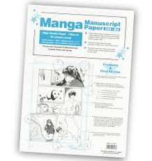 manga page size manga manuscript paper copic