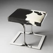 white microfiber bathroom stool with chromed metal frame bathroom