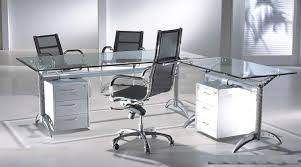 modern glass office desk full. l shape metal and glass office desk with drawer cabinet chairs modern full wayne home decor