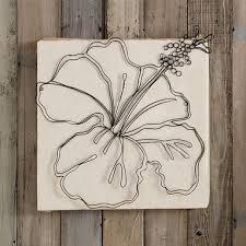 wire flowers wall art diy