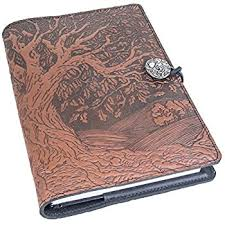 genuine leather refillable journal cover hardbound blank insert 6x9 inches tree of life