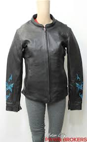 milwaukee leather turquoise embroidery women s leather motorcycle jacket