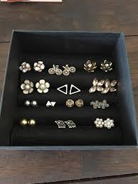 diy stud earring holder jewelry box earring box