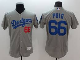 Jersey Mlb Grey 60 Dodgers Stitched Authentic Discount Puig Timelimited Right Collection Flexbase 66 Order amp; Now Yasiel