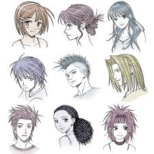 Hair Style Anime drawing anime hair for male and female characters impact books 2958 by wearticles.com