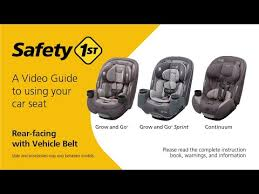 rear facing with vehicle belt tips