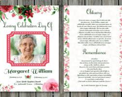 funeral pamphlet funeral program template funeral program for memorial order