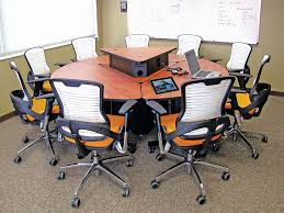 a round table design encourages collaboration