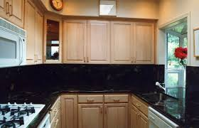 ... Beautiful Kitchen Decoration Using Black Granite Kitchen Counter Tops :  Endearing U Shape Kitchen Design And ...