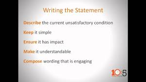 Research Problem Statement Connsteps 10 5 What Is An Effective Problem Statement Youtube