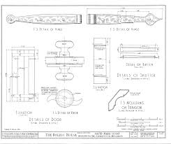 file drawing of door and shutter details in the bolduc house in ste genevieve mo