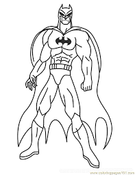 Muscle Free Printable Coloring Page Batman Coloring Pages Cartoons