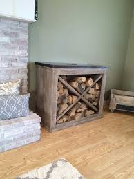 pretty little indoor wood storage More