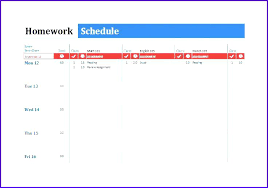Homework Agenda Templates Printable Weekly Homework Planner Template Keywords Getting Ready