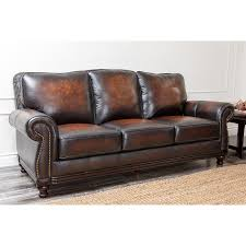 abbyson marney top grain leather sectional hayneedle