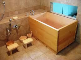 Image of: Wooden Japanese Soaking Tub