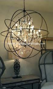 orb clear crystal chandelier iron small rustic restoration hardware large crysta